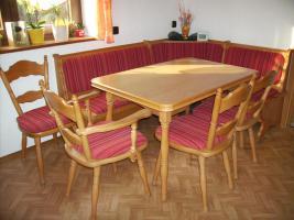 Eckbankgruppe mit Tisch und 4 St�hlen