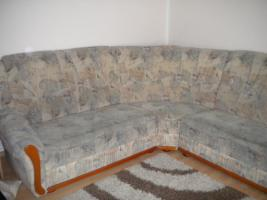 Foto 2 Eckcouch mit Schlaffunktion und Sessel