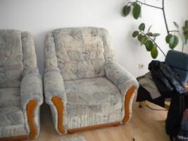 Foto 4 Eckcouch mit Schlaffunktion und Sessel