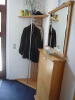 Eckgarderobe + Spiegel + Schuhschrank