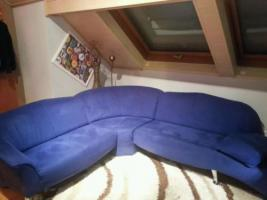 Ecksofa Lamous Markenware Made in Germany blaufarben