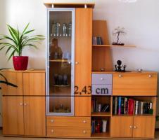 Foto 6 Ecksofa mit Schlaffunktion, Couchtisch, Fernsehregal, hohes Regal, Wohnwand mit Umzugsmängeln zu verschenken
