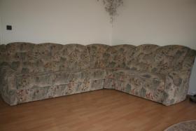 Ecksofa mit Schlaffunktion + Sessel