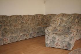 Foto 2 Ecksofa mit Schlaffunktion + Sessel