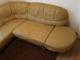 Foto 2 Ecksofa + Sessel + Schlaffunktion Leder