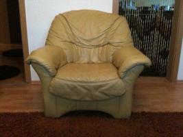 Foto 3 Ecksofa + Sessel + Schlaffunktion Leder