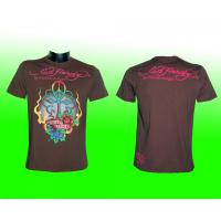 Ed Hardy Herren T-shirt, braun, TRUE LOVE