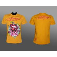 "Ed Hardy T-shirt , gelb ""Love kills slowly"""