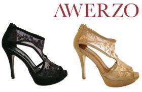 Edel Design High Heels aus echtem Rinds- und Wildleder, schwarz, bronze