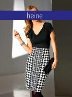 Edel Kleid - heine - schwarz-creme - Gr��e 38 - Neu & OVP