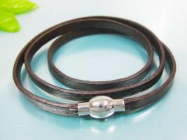 Foto 2 Edel, modern und sportlich Leder & Edelstahl Armband
