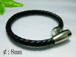 Edel, modern und sportlich Leder & Edelstahl Armband