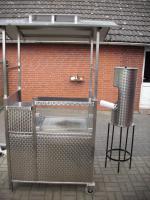 Foto 3 Edelstahl-Gasgrill Gas-Grill-Wagen mit Dach u.Waschgelegenheit