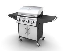 Edelstahl Gasgrill Grill Grillwagen Barbecue BBQ 4+1