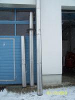 Edelstahl-Kamin, DN180, 9,00 m