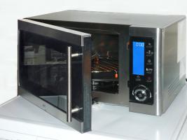 Edelstahl-Mikrowelle 4-in-1, +Grillen, +Backen, +Hei�luft
