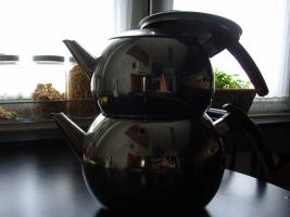 Edelstahl Teekanne Teekocher Teekessel, Wasserkessel als Blumentopf Übertopf