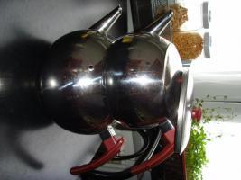 Foto 4 Edelstahl Teekanne Teekocher Teekessel, Wasserkessel als Blumentopf Übertopf