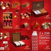 Foto 8 Edle Geschenkboxen aus masivem Holz, Schokoliköre...