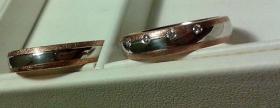 Foto 2 Eheringe/ Trauringe in rotgold/ wei�gold mit Brillanten