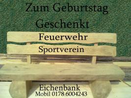 Eichenbank Gartenbank Sitzmöbel Möbel  Terrassenmöbel Bank  Garten Baumbank