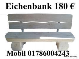 Foto 2 Eichenbank Gartenbank Sitzmöbel Möbel  Terrassenmöbel Bank  Garten Baumbank