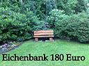 Foto 3 Eichenbank Gartenbank Sitzmöbel Möbel  Terrassenmöbel Bank  Garten Baumbank