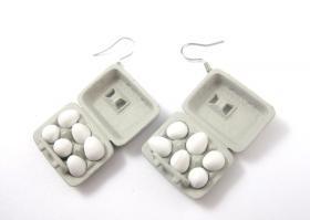Eier-Packung Ohrringe