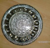 Eierplatte Buffet aus Metal, NEU