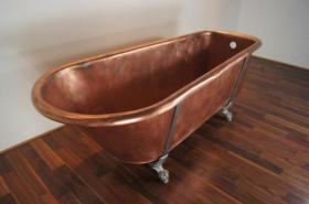 Foto 3 Ein Luxus komplett restaurierten viktorianischen Kupfer Roll Top Badewanne - vintage modernen Wellnessbereich