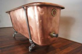 Foto 4 Ein Luxus komplett restaurierten viktorianischen Kupfer Roll Top Badewanne - vintage modernen Wellnessbereich