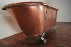 Foto 5 Ein Luxus komplett restaurierten viktorianischen Kupfer Roll Top Badewanne - vintage modernen Wellnessbereich