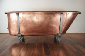 Foto 6 Ein Luxus komplett restaurierten viktorianischen Kupfer Roll Top Badewanne - vintage modernen Wellnessbereich