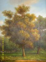Ein Ölbild-Landschaft