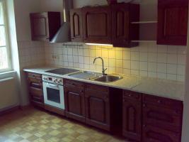 Einbauküche für 250 Euro - AEG Ceran-Kochfeld/Backhofen 7 Jahre alt - Eiche Massiv Holz Front Schränke