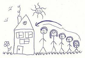 Eine Familie (5 Personen) sucht ein Haus in Gründau