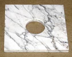 Eine bearbeitete schöne Marmorplatte, gebraucht