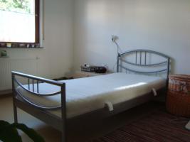 Einzelbett silber lackiert 100 x 200