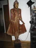 Einzigartiges Sammlerstück: Lebensgroße Buddha-Figur über 100 Jahre alt