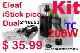 Eleaf iStick Pico DUAL Kit TC 200W 2*18650 nur € 33
