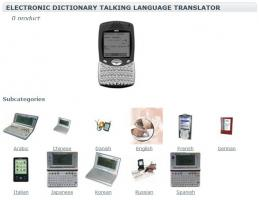 Electronic Dictionary Talking Language Translator