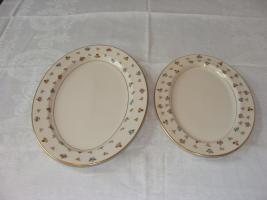 Elegante Lamberton ovale Fleischplatten mit Goldrand