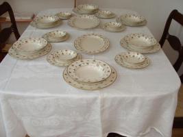 Foto 2 Elegante Lamberton ovale Fleischplatten mit Goldrand