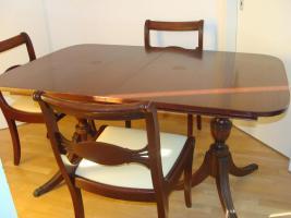 Foto 3 Eleganter Chippendale Mahagoni Furnier Esszimmer Set