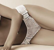 Eleganter Slip Damaris weiß von ROZA - Gr. M/38 - OVP & NEU