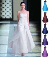 Elegantes Abendkleid Ballkl Gr. 36-42, versch. Farben