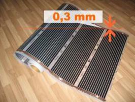 Elektrische Infrarot Fußbodenheizung Heizfolie - 13,50 EUR/m2