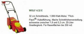 Elektromäher Wolf 4.32E mit Bedienungsanleitung