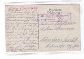 mobile Feldzensur Elsaß 18.I.1916