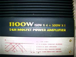 Endstufe 1100W RedStar AMP 500 gebraucht neuwertig